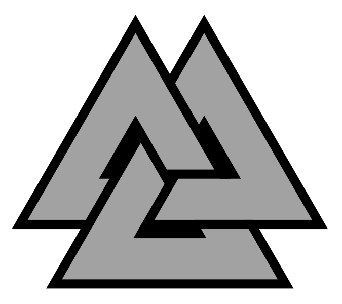 The symbol of three interlocked triangles is called Valknut Viking Symbols Of Strength