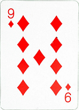 9 of diamonds card