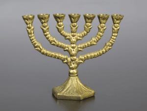 number 7 in Judaism Menora