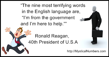 Nine words - quote Ronald Reagan