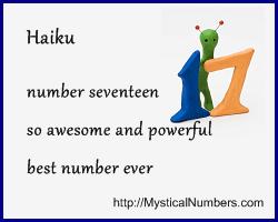 Number 17 Haiku awesome