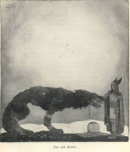 Tyr and Fenrir - John Bauer