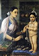 Yasoda Adorning Krishna