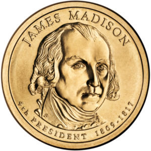 James Madison Presidential Coin