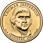 Thomas Jefferson Presidential Coin