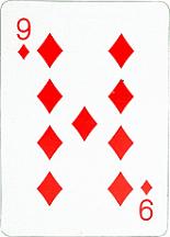 9 of diamonds card