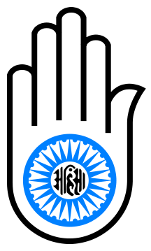 number 5 in Jainism Jain hand