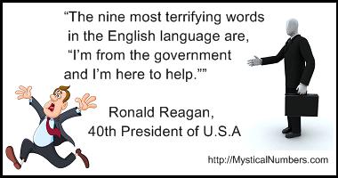 Nine words - quote Ronald Reagan