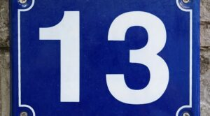 Number 13 Meaning Thirteen