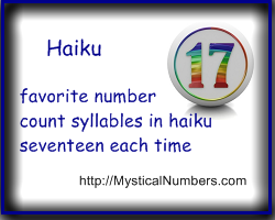 Number 17 haiku poem