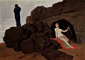 Odysseus and Calypso - Arnold Böcklin 1883