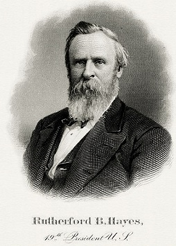 Rutherford Hayes 19 th president
